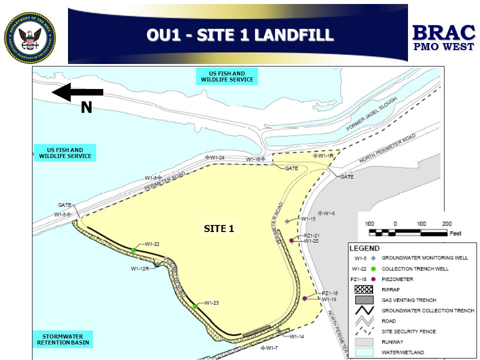 OU1 - SITE 1 LANDFILL N SITE 1 US FISH AND WILDLIFE SERVICE STORMWATER