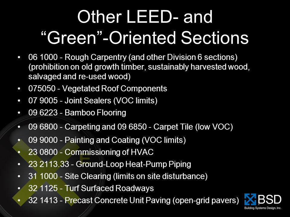 Other LEED- and Green -Oriented Sections