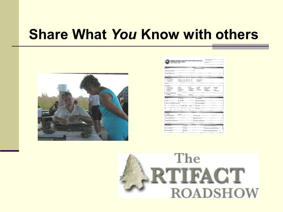 Share What You Know with others