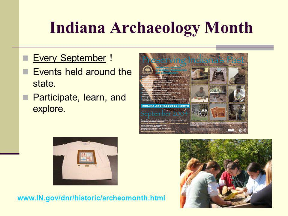 Indiana Archaeology Month