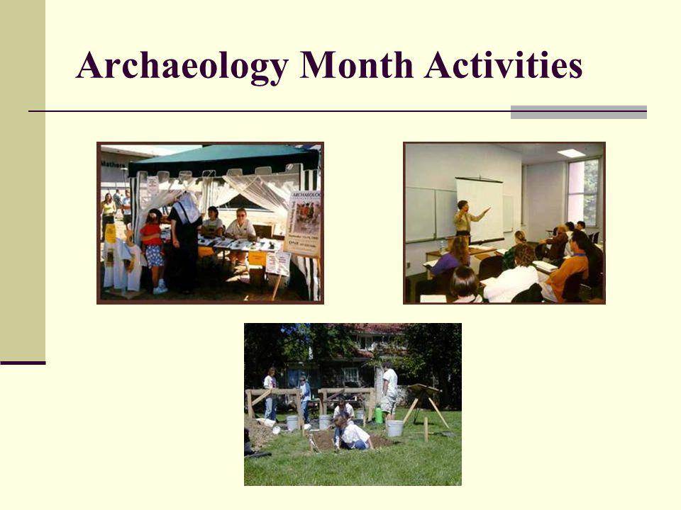 Archaeology Month Activities