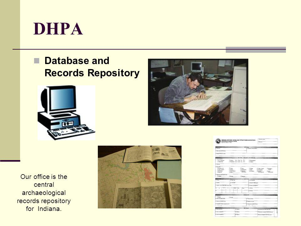 DHPA Database and Records Repository