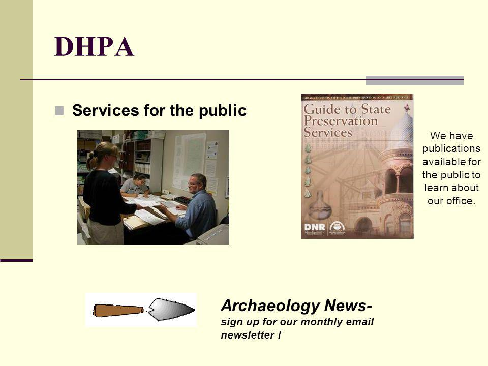 DHPA Services for the public