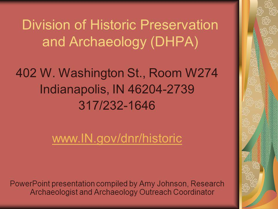 Division of Historic Preservation and Archaeology (DHPA)