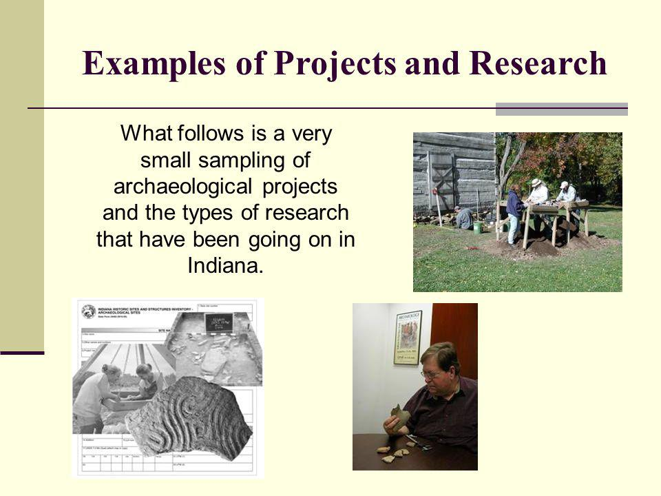 Examples of Projects and Research
