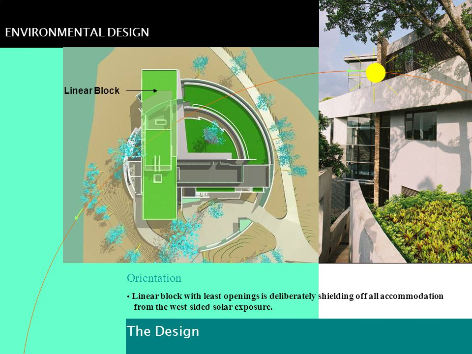 The Design ENVIRONMENTAL DESIGN Orientation Linear Block