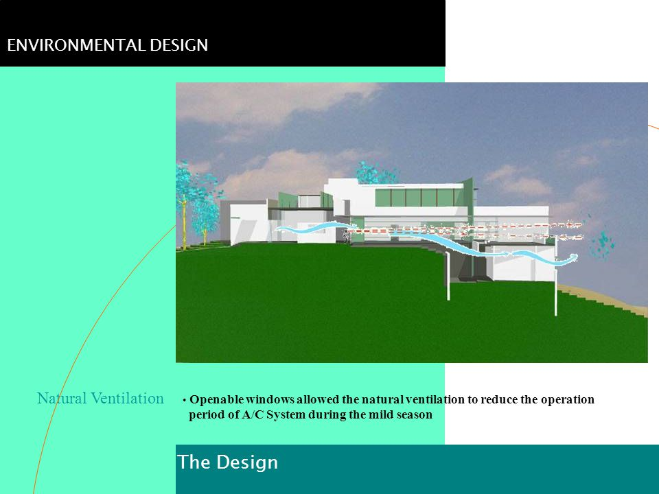 The Design ENVIRONMENTAL DESIGN Natural Ventilation