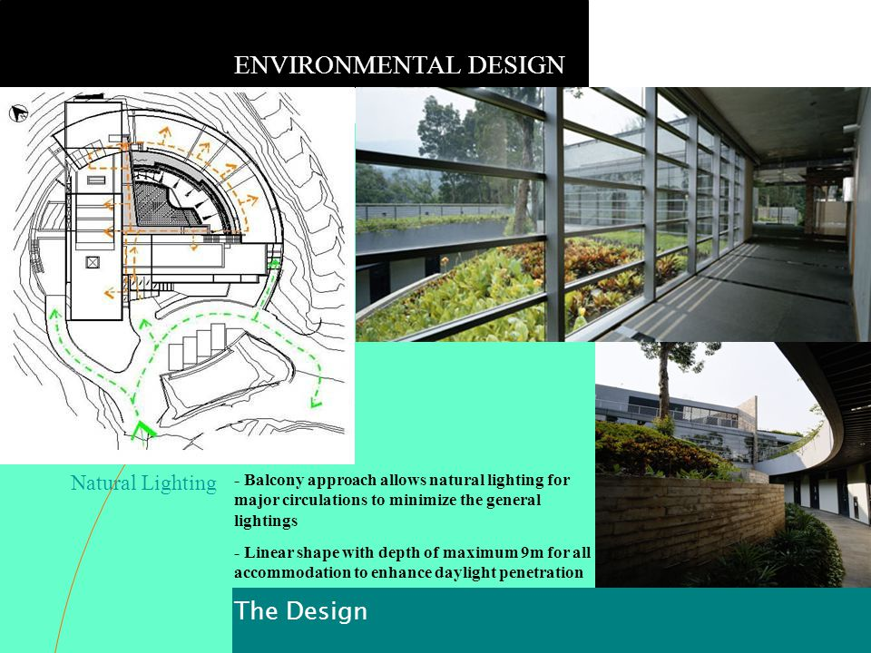 ENVIRONMENTAL DESIGN The Design Natural Lighting