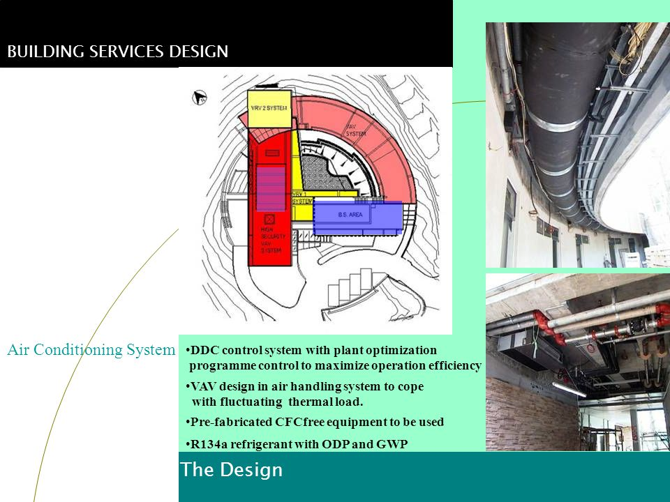 The Design BUILDING SERVICES DESIGN Air Conditioning System