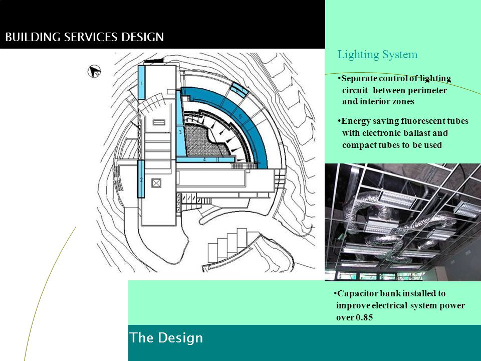 The Design BUILDING SERVICES DESIGN Lighting System