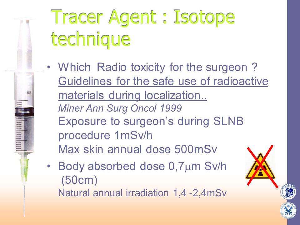 Tracer Agent : Isotope technique