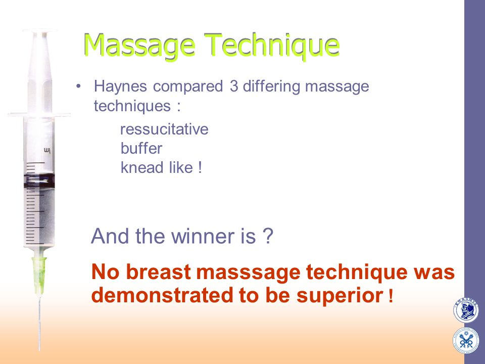 Massage Technique And the winner is