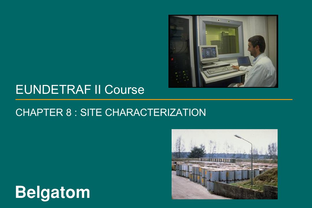CHAPTER 8 : SITE CHARACTERIZATION
