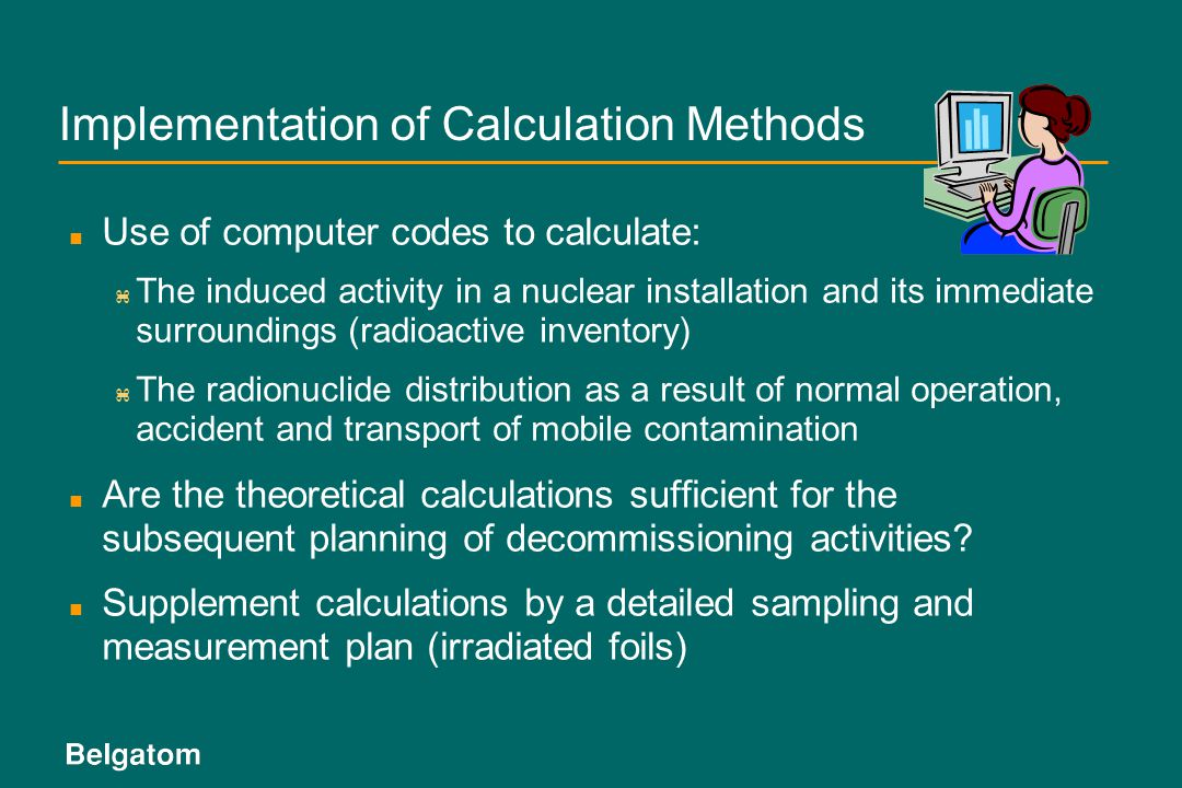 Implementation of Calculation Methods