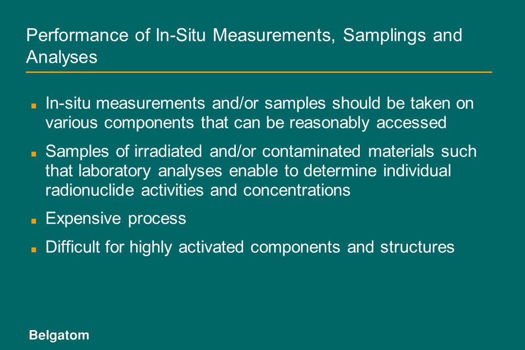 Performance of In-Situ Measurements, Samplings and Analyses