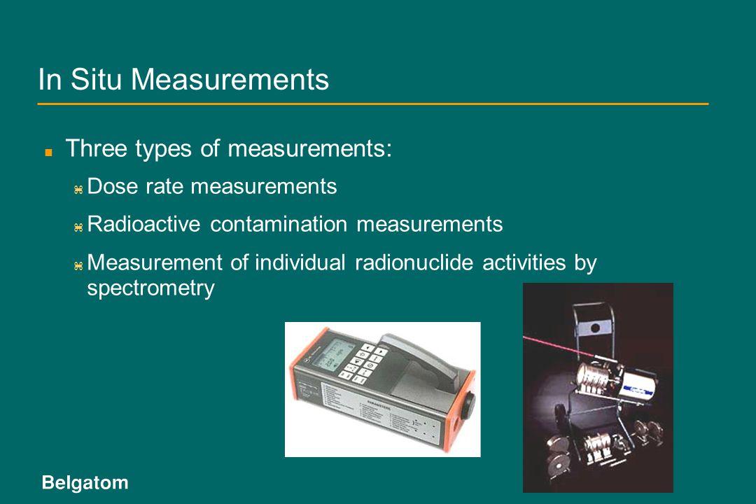 In Situ Measurements Three types of measurements: