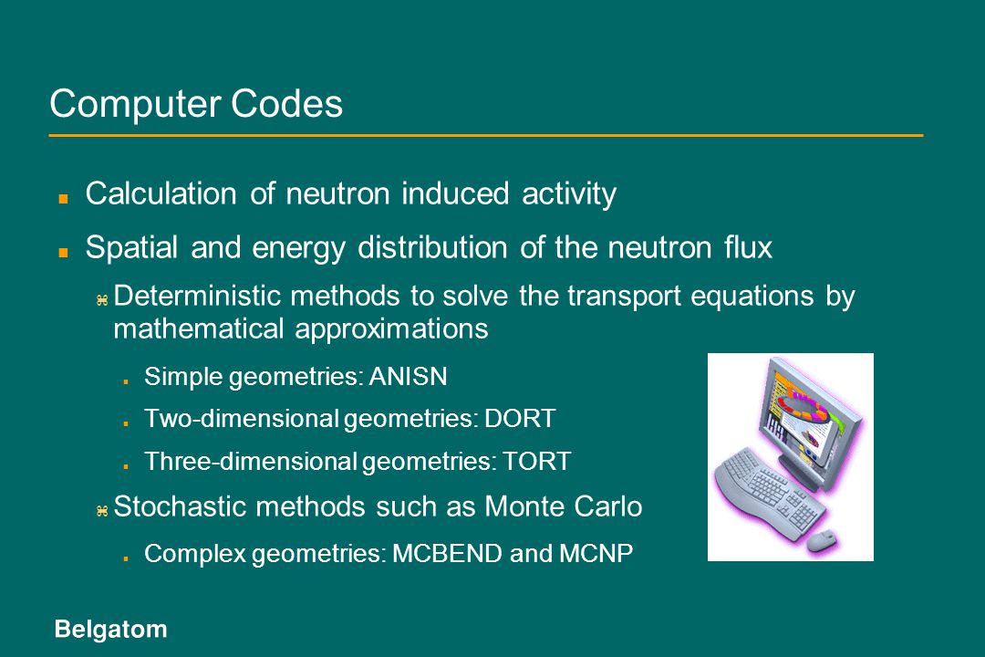 Computer Codes Calculation of neutron induced activity