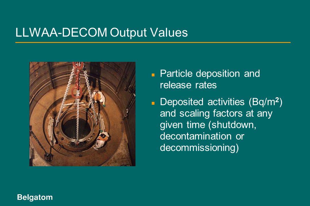 LLWAA-DECOM Output Values