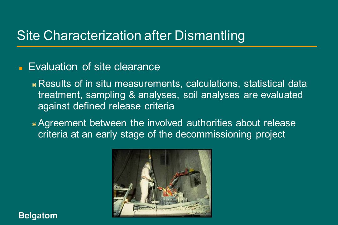 Site Characterization after Dismantling