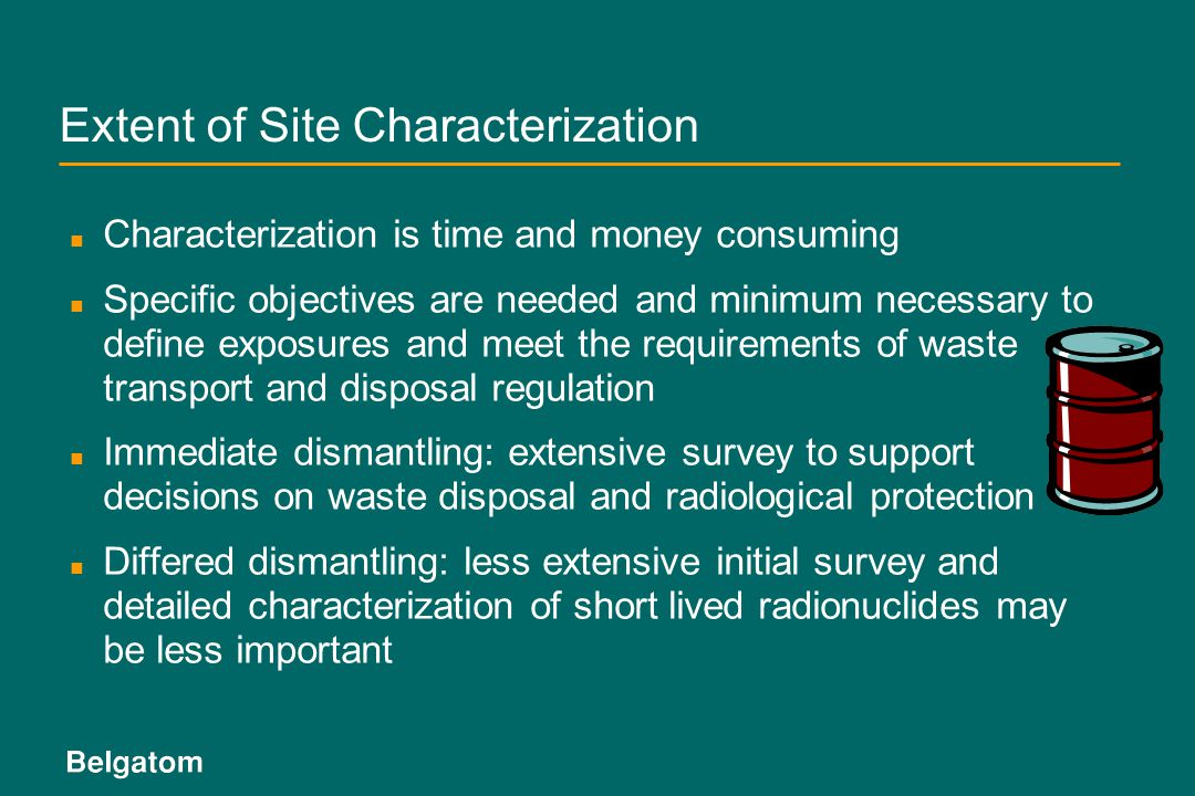 Extent of Site Characterization