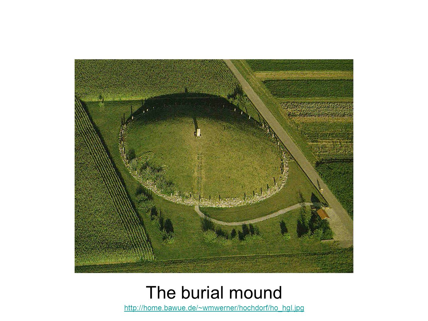 The burial mound This aerial view can be compared with