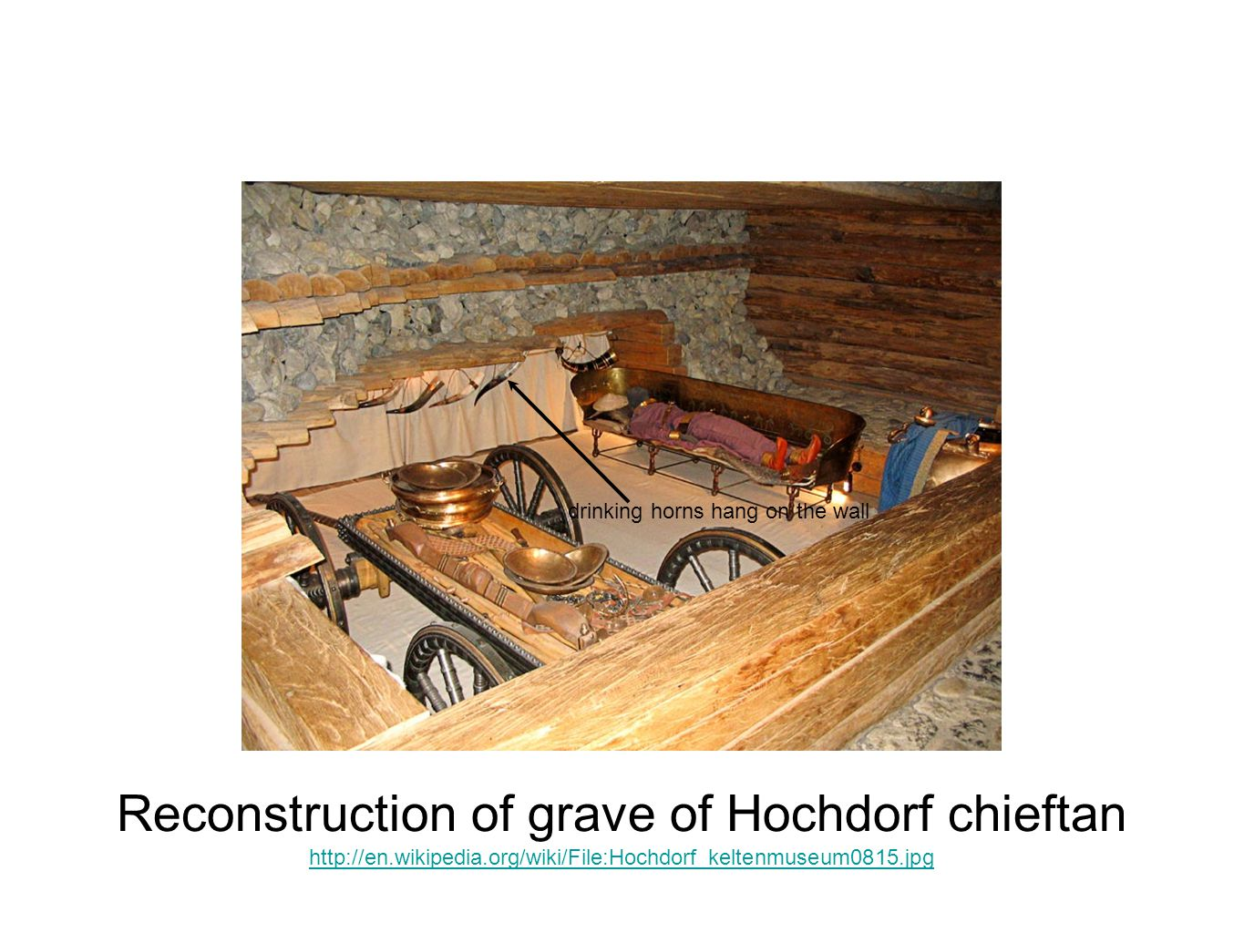 Reconstruction of grave of Hochdorf chieftan