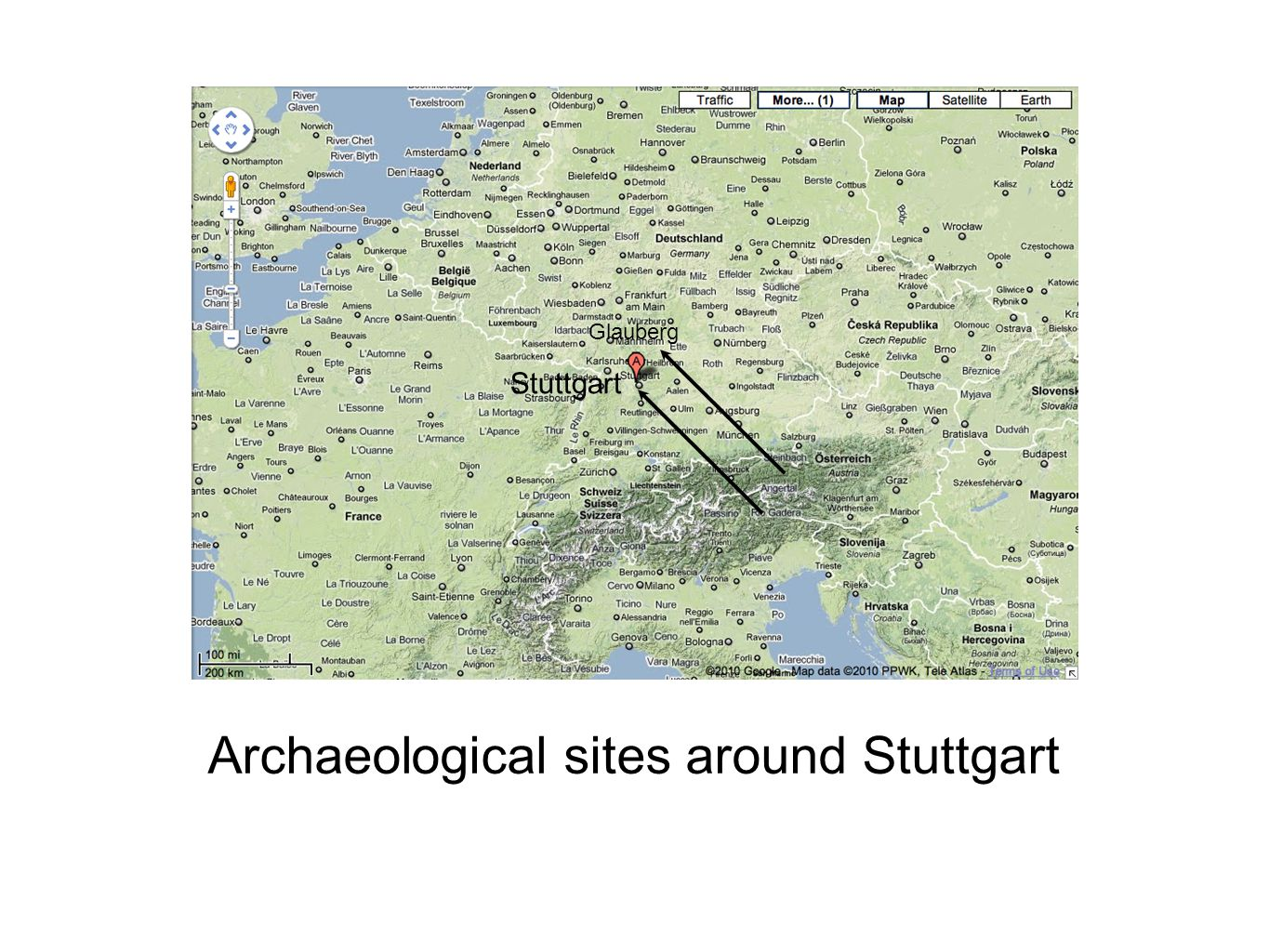 Archaeological sites around Stuttgart