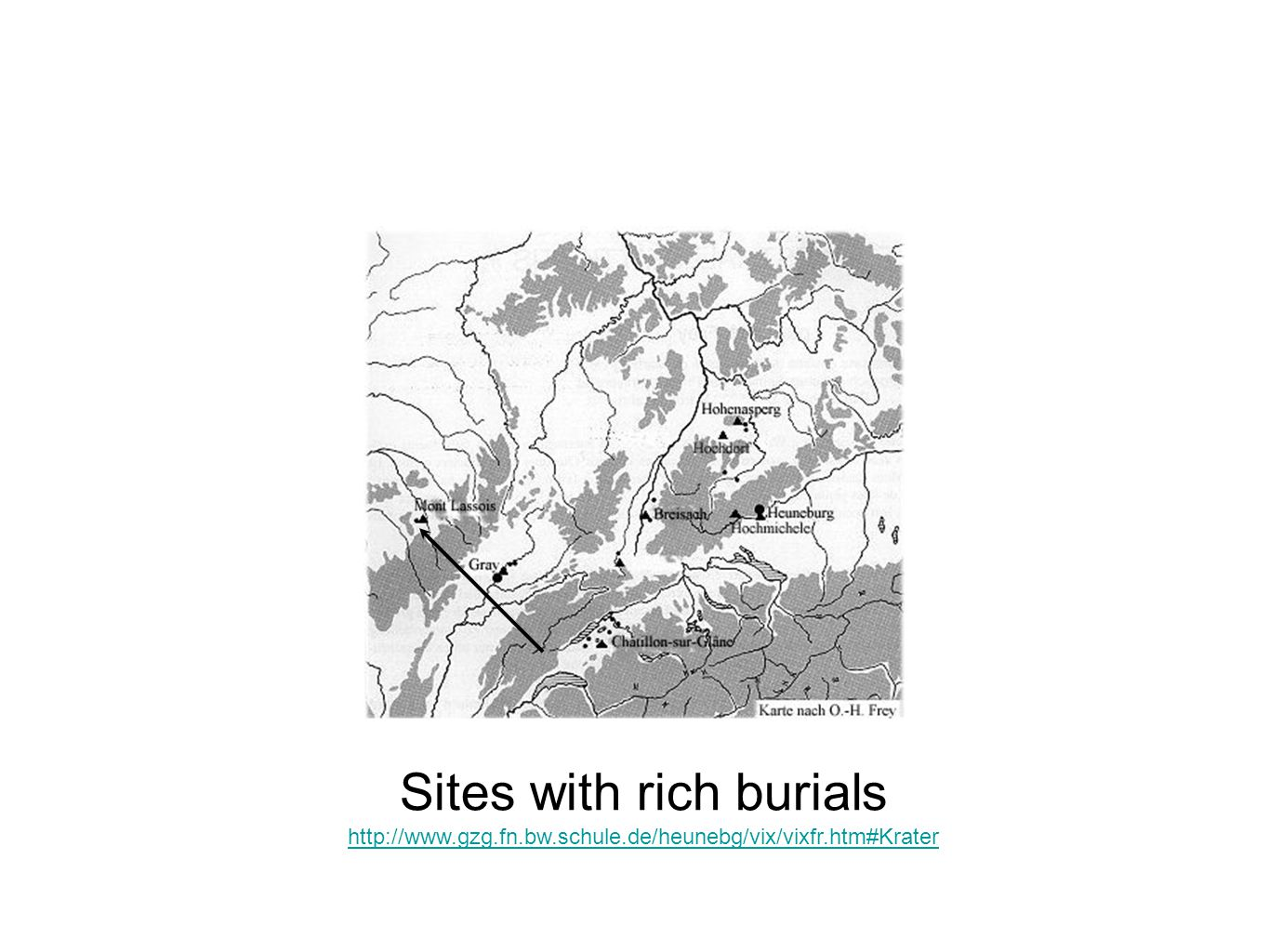 Sites with rich burials