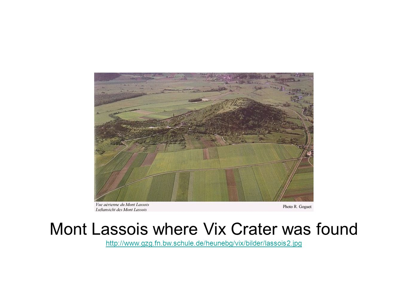 Mont Lassois where Vix Crater was found