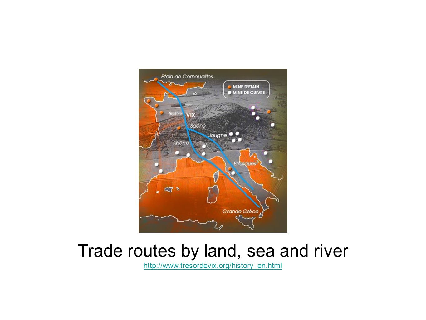 Trade routes by land, sea and river