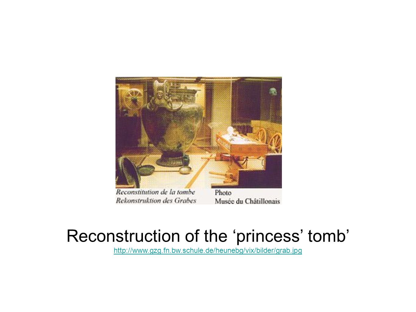 Reconstruction of the 'princess' tomb'
