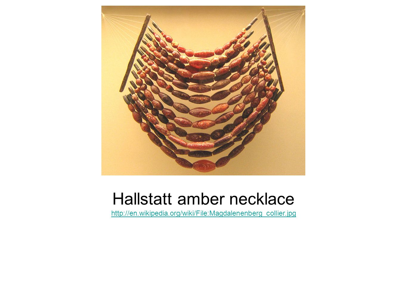 Hallstatt amber necklace