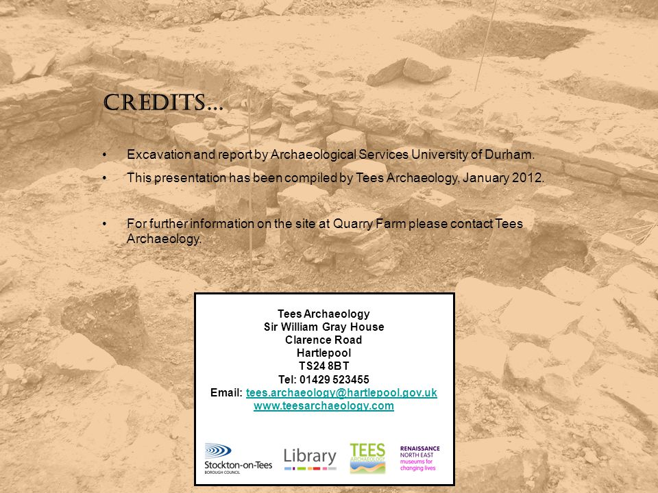 Email: tees.archaeology@hartlepool.gov.uk