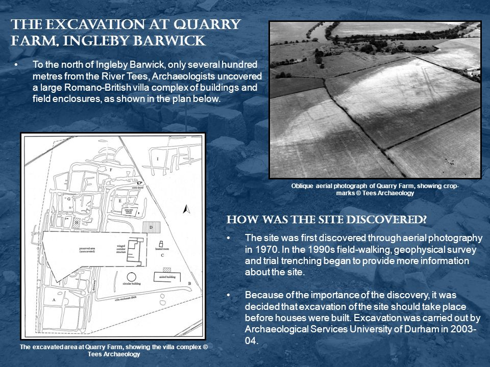 The Excavation at Quarry Farm, Ingleby Barwick
