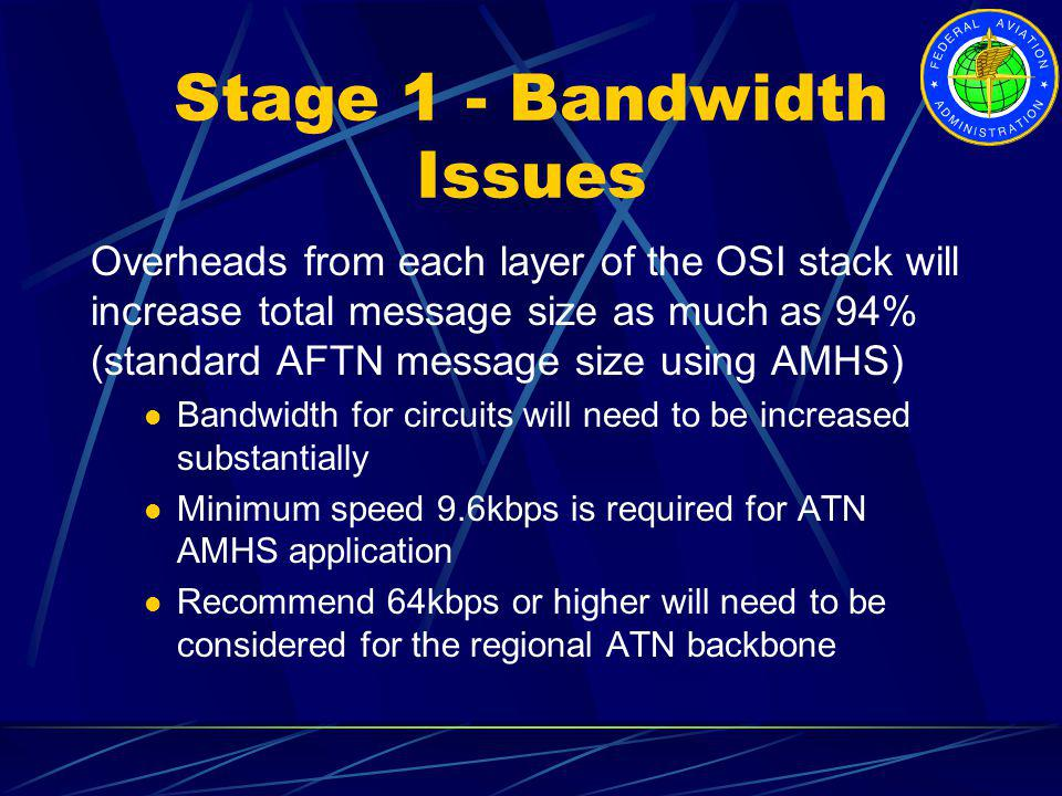 Stage 1 - Bandwidth Issues