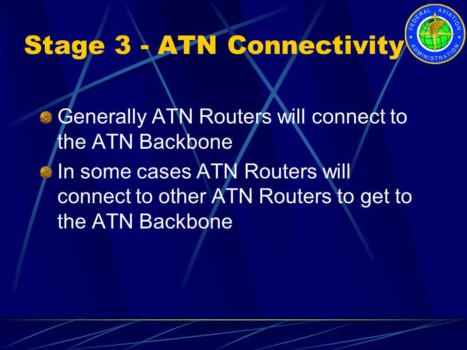Stage 3 - ATN Connectivity