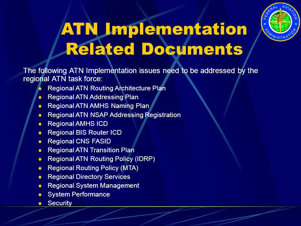 ATN Implementation Related Documents