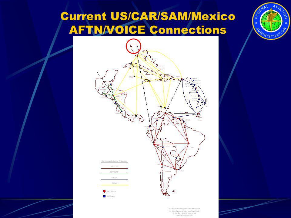 Current US/CAR/SAM/Mexico AFTN/VOICE Connections