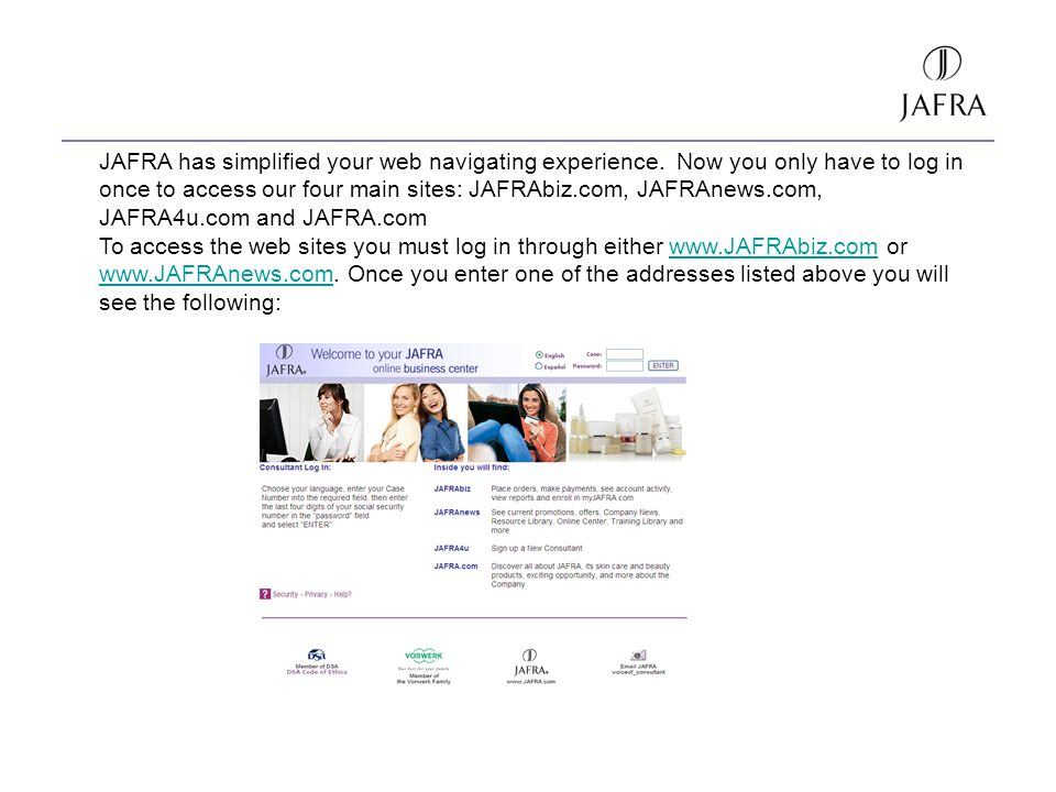 JAFRA has simplified your web navigating experience