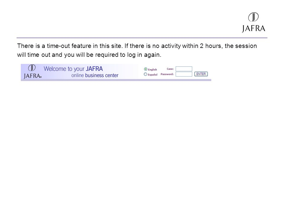 There is a time-out feature in this site