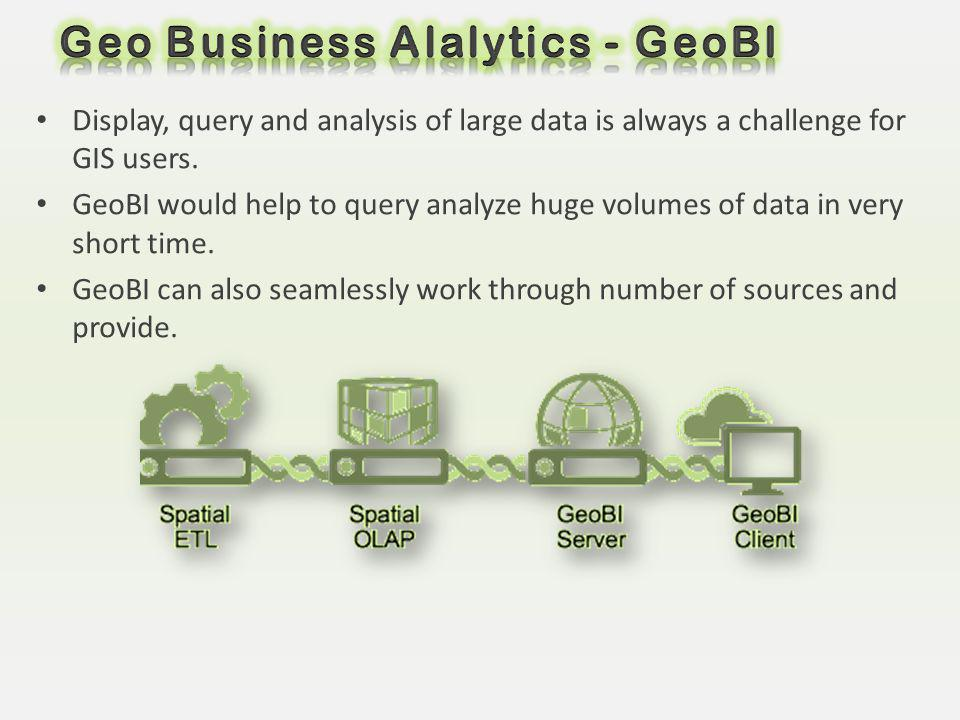 Geo Business Alalytics - GeoBI
