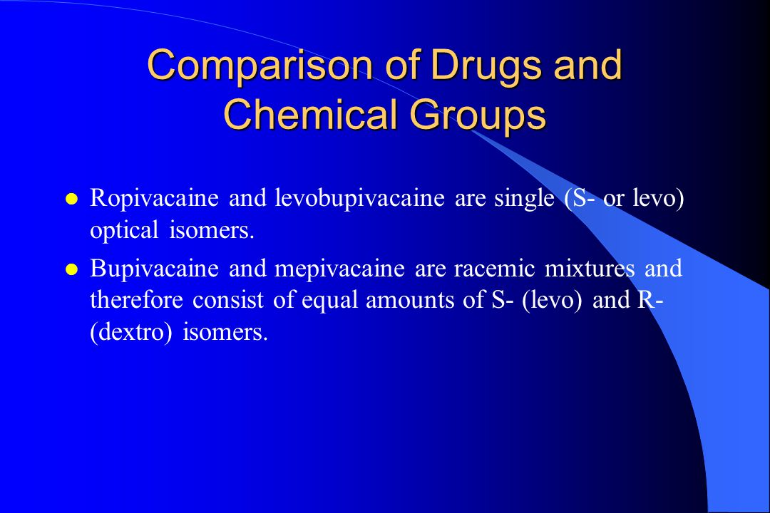 Comparison of Drugs and Chemical Groups