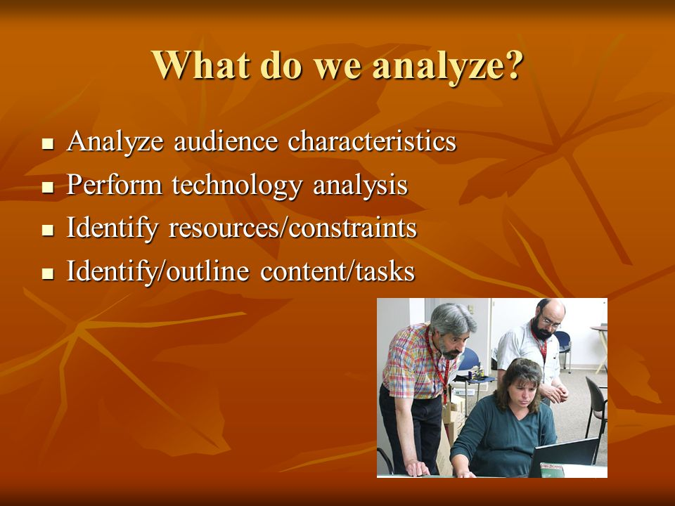 What do we analyze Analyze audience characteristics