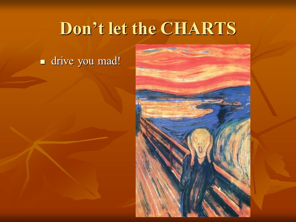Don't let the CHARTS drive you mad!