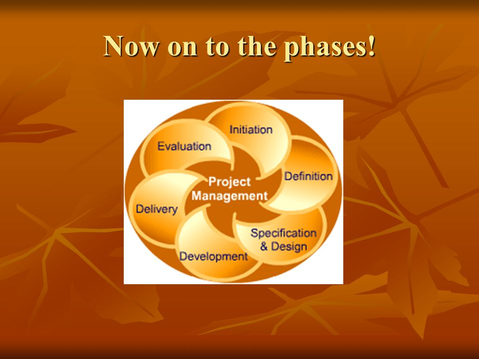 Now on to the phases!