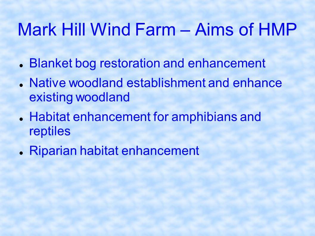 Mark Hill Wind Farm – Aims of HMP