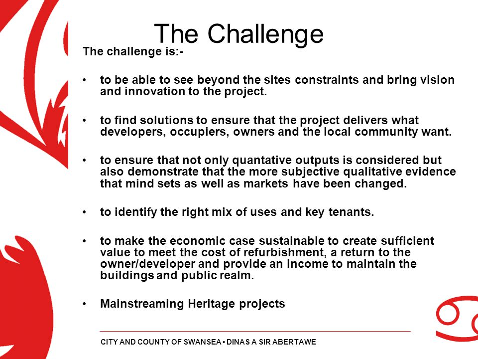 The Challenge The challenge is:-