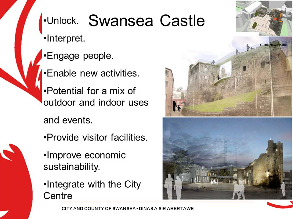 Swansea Castle Unlock. Interpret. Engage people.
