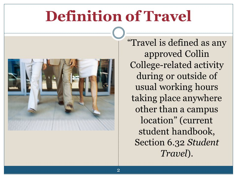 Definition of Travel