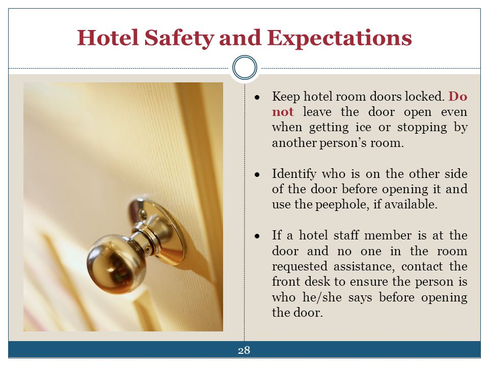 Hotel Safety and Expectations
